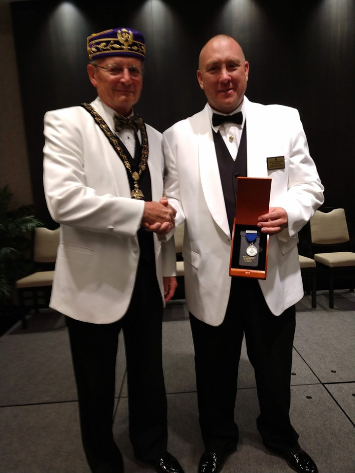 Congratulation to brother Doug Ligget on being awarded the Scottish Rite service to Masonry medal at the 2019 Council of Deliberation.